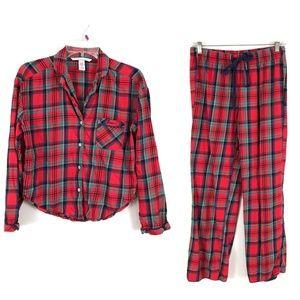 Victoria's Secret plaid PJ's pajamas top pants set